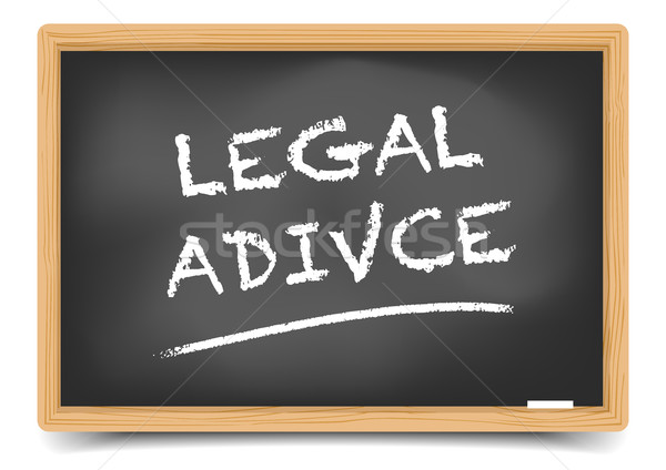 Blackboard Legal Advice Stock photo © unkreatives
