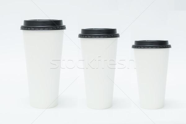 Three Takeaway Coffee Cups Stock photo © unkreatives