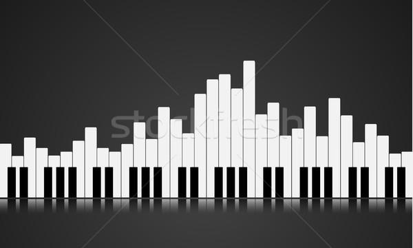 фортепиано ключевые эквалайзер иллюстрация eps10 вектора Сток-фото © unkreatives