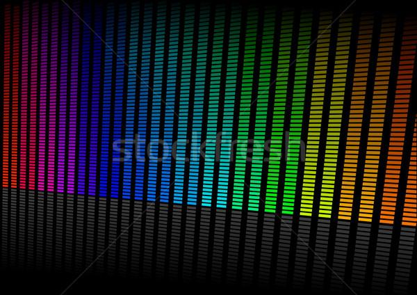 Hangszínszabályozó illusztráció színes szimbólum zene hang Stock fotó © unkreatives