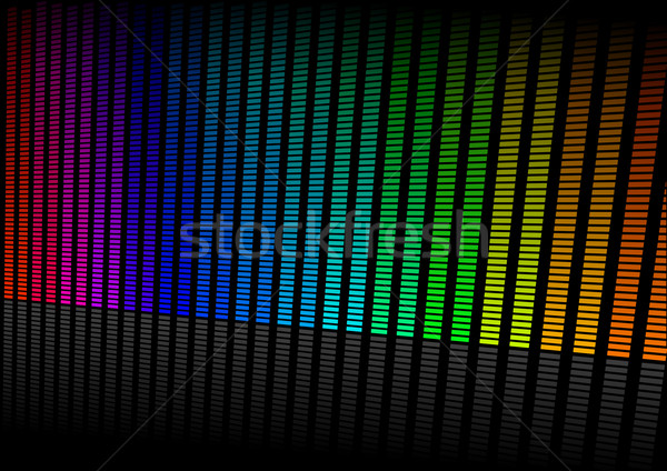 Ecualizador ilustración colorido símbolo música sonido Foto stock © unkreatives