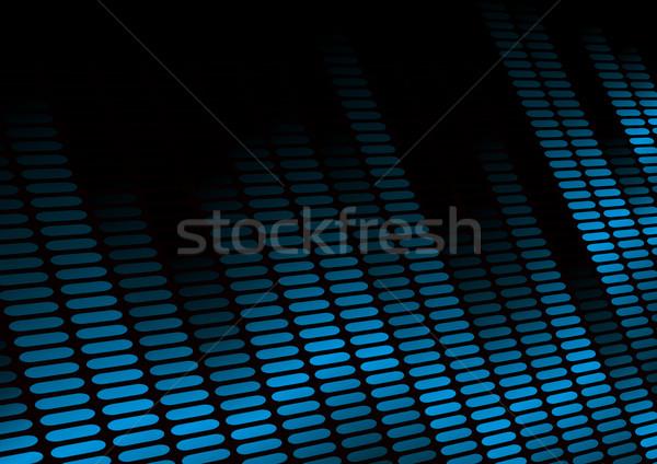 Ekolayzer örnek simge müzik ses ışık Stok fotoğraf © unkreatives