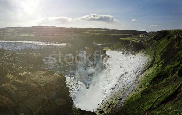 Gulfoss Panorama Stock photo © unkreatives