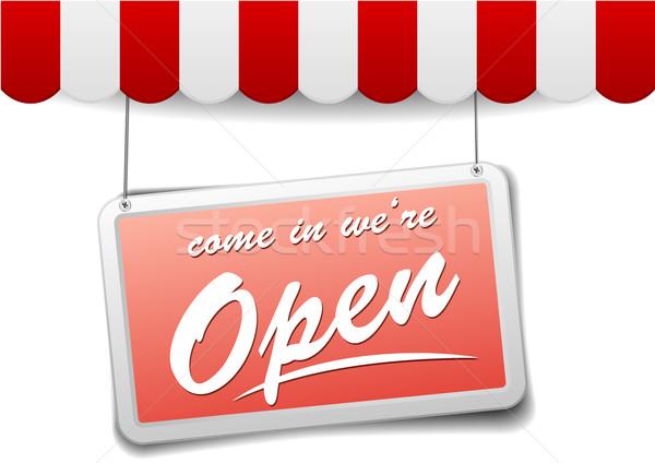 Signo detallado ilustración rojo tienda Foto stock © unkreatives
