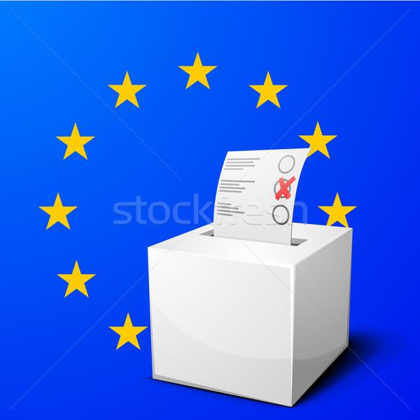 ballot box EU Stock photo © unkreatives