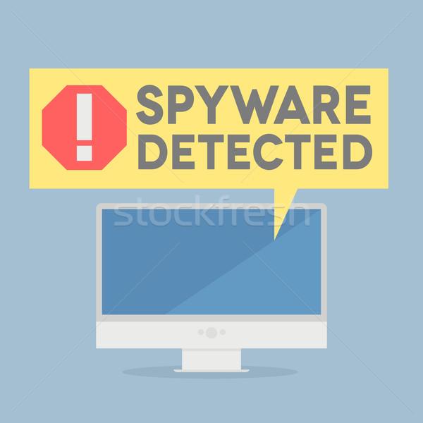 Spyware иллюстрация контроля речи пузырь Сток-фото © unkreatives