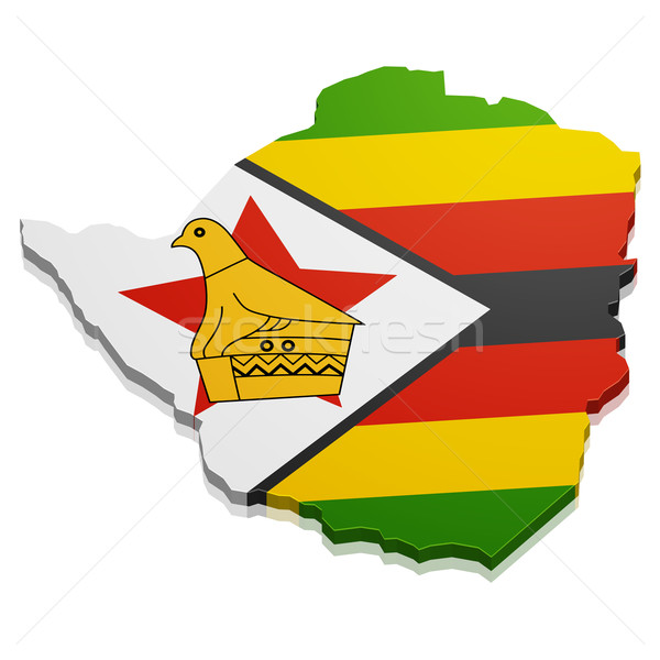 Map Zimbabwe Stock photo © unkreatives