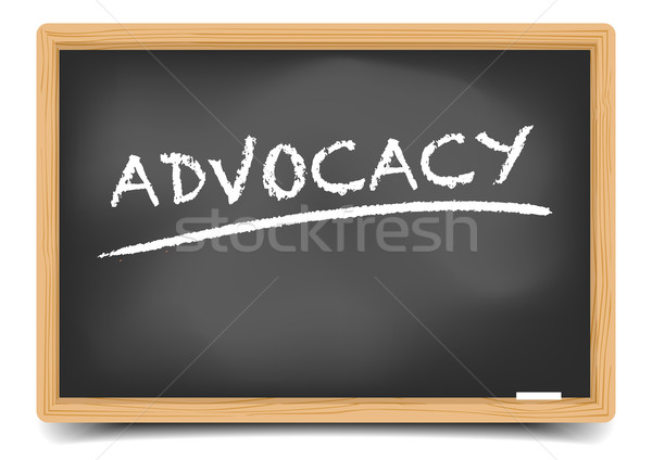 blackboard advocacy Stock photo © unkreatives