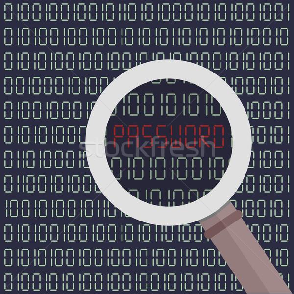 Hacker okuma parola kelime dijital ekran Stok fotoğraf © unkreatives