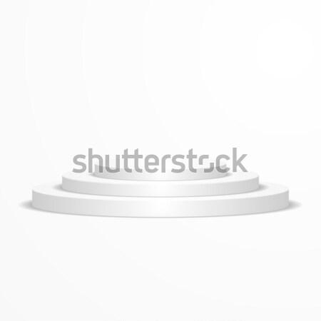 round white podium Stock photo © unkreatives