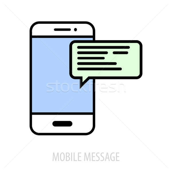 Mobile Message concept Stock photo © unkreatives