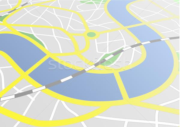 Сток-фото: город · карта · иллюстрация · перспективы · дороги · дизайна