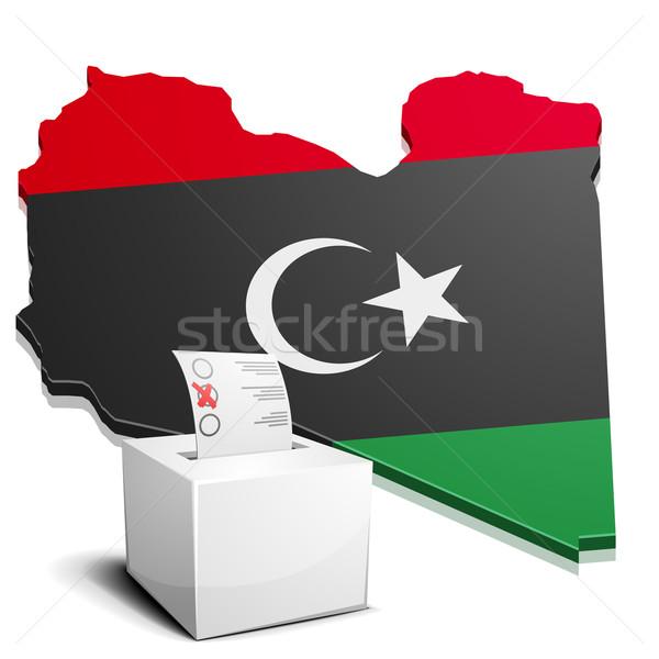 Libia szczegółowy ilustracja Pokaż eps10 wektora Zdjęcia stock © unkreatives
