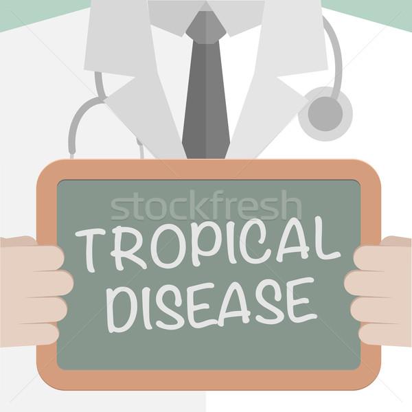 Medici bordo tropicali malattia illustrazione Foto d'archivio © unkreatives