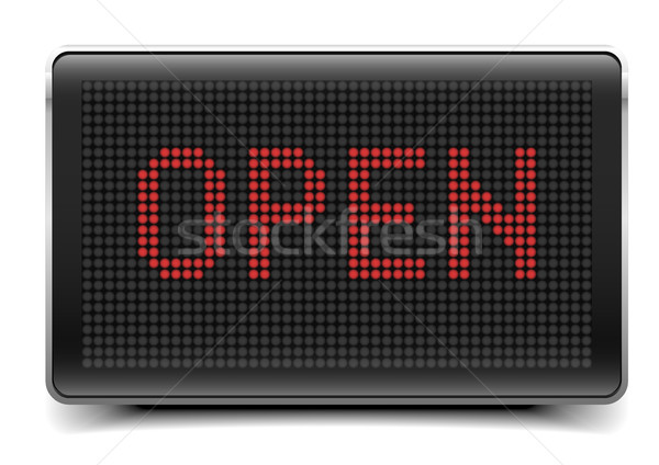 LED Board Open Stock photo © unkreatives