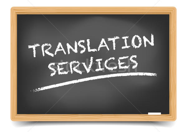Blackboard Translation Service Stock photo © unkreatives