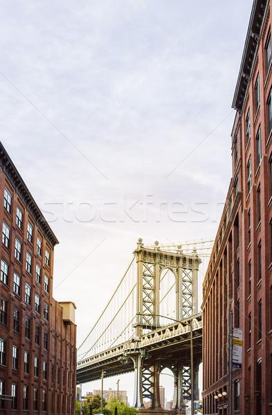 Manhattan pont rivière étroite allée deux Photo stock © unkreatives