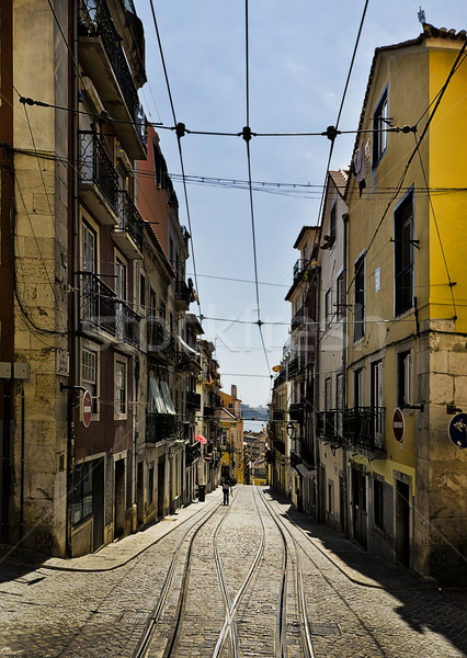 Streets of Lisbon Stock photo © unkreatives