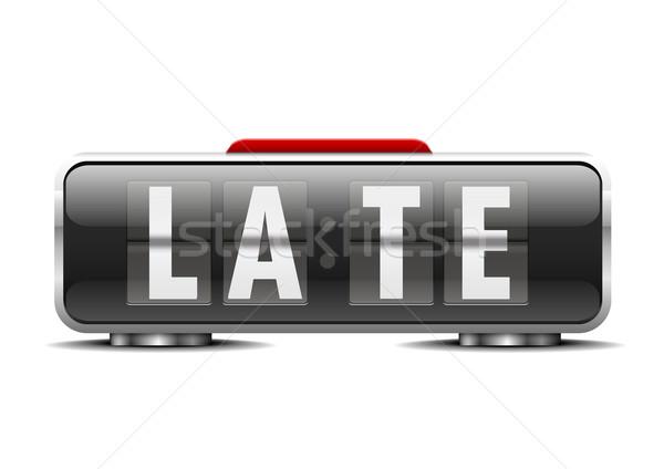 Despertador tarde detalhado ilustração dígitos eps10 Foto stock © unkreatives