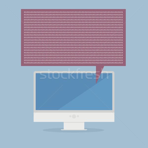 контроля двоичный иллюстрация номера Сток-фото © unkreatives