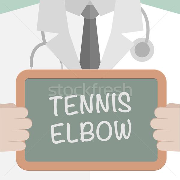 Boord tennis elleboog illustratie arts Stockfoto © unkreatives