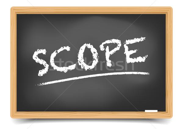 Blackboard Concept Scope Stock photo © unkreatives