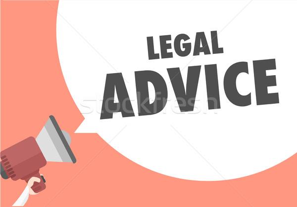 Altoparlante giuridica illustrazione megafono consiglio Foto d'archivio © unkreatives