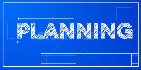 Blueprint pianificazione dettagliato illustrazione eps10 vettore Foto d'archivio © unkreatives