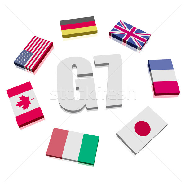 Group of Seven Flags Stock photo © unkreatives