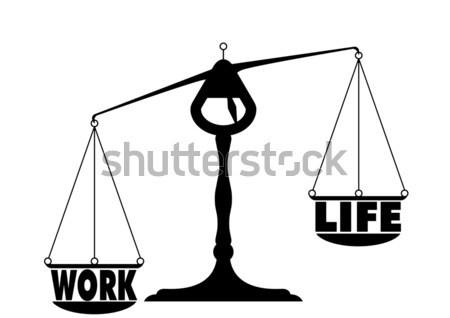 Nem egyenlőség illusztráció egyensúly férfi nő Stock fotó © unkreatives