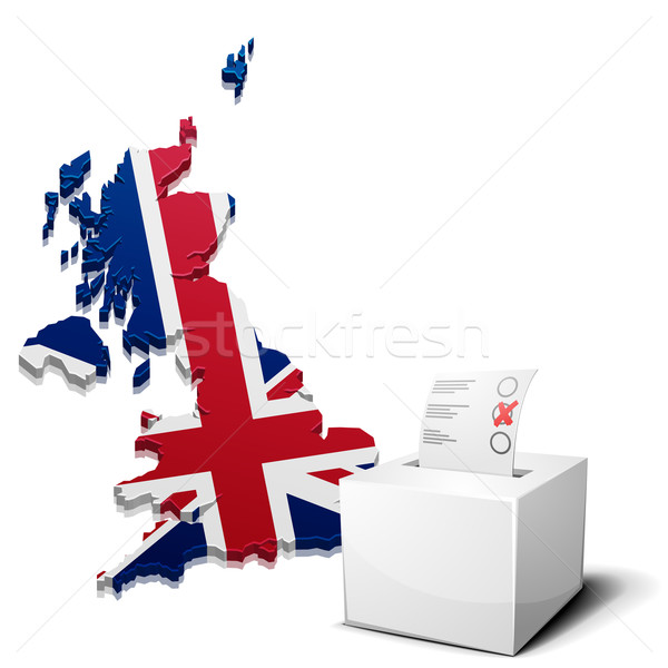 ballot box Great Britain Stock photo © unkreatives