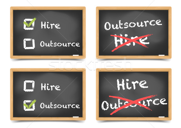 Blackboard Hire Outsource Stock photo © unkreatives
