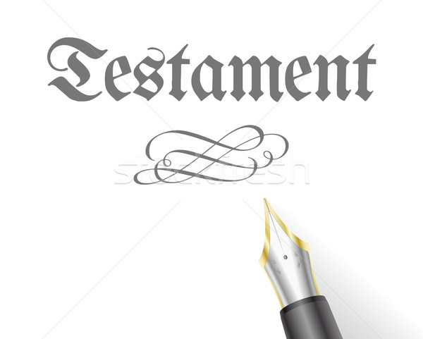 Testament Pen Stock photo © unkreatives