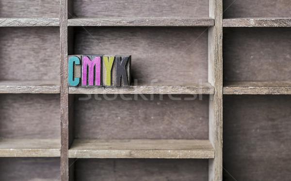 Wooden Letter CMYK Stock photo © unkreatives