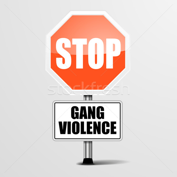 Stop Gang Violence Stock photo © unkreatives
