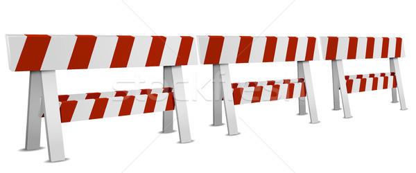 Row of Roadblocks Stock photo © unkreatives