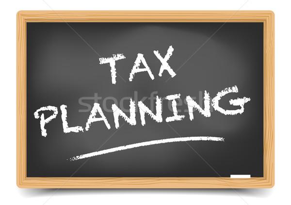 Blackboard Tax Planning Stock photo © unkreatives