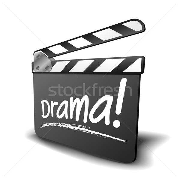 Boord drama gedetailleerd illustratie symbool film Stockfoto © unkreatives