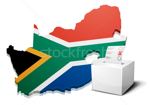 ballotbox South Africa Stock photo © unkreatives