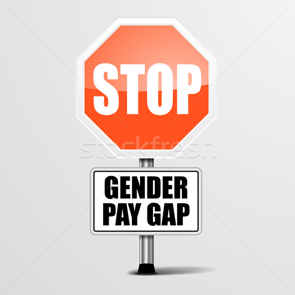 Stop Gender Pay Gap Stock photo © unkreatives