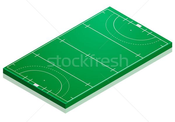 Hockey campo detallado ilustración perspectiva Foto stock © unkreatives