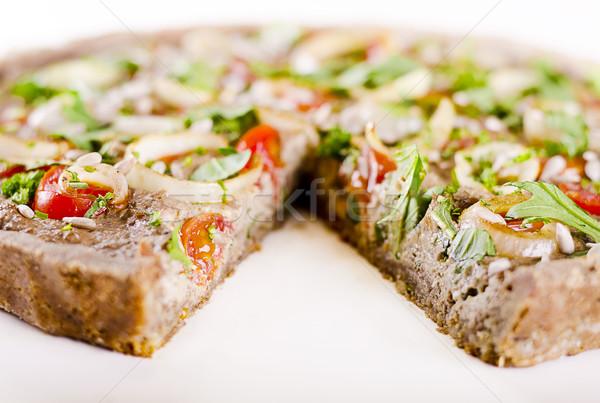 Rauw voedsel veganistisch moer vulling groenten top Stockfoto © unkreatives