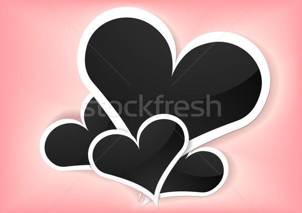 valentine foto frames Stock photo © unkreatives
