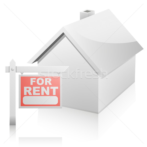House with For Rent Sign Stock photo © unkreatives
