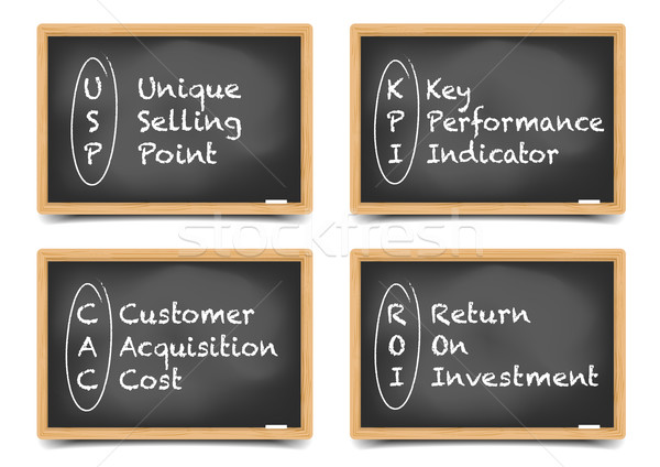 Blackboard Business Terms Stock photo © unkreatives