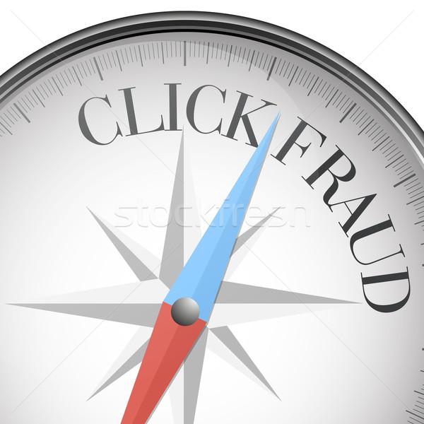 Bússola clique fraude detalhado ilustração texto Foto stock © unkreatives