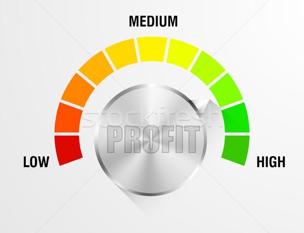 Profit Meter Illustration Stock photo © unkreatives