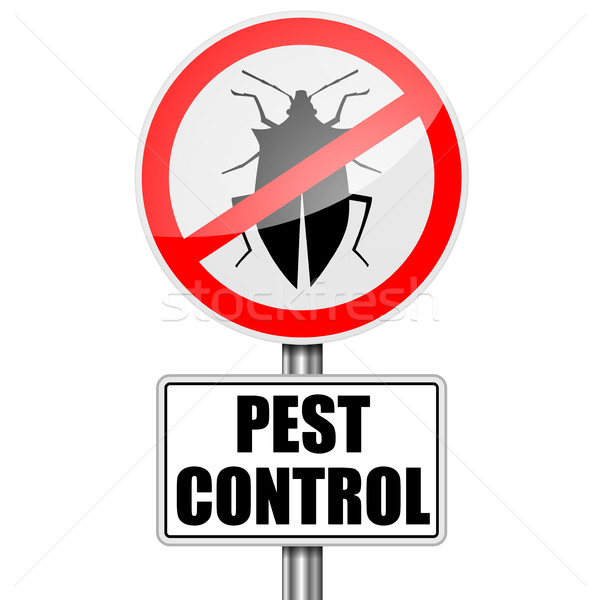 RoadSign Pest Control Stock photo © unkreatives