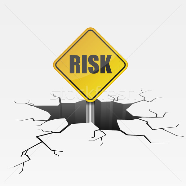 Stock photo: Crack Risk Sign