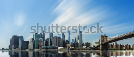 Manhattan Skyline with Brooklyn Bridge Stock photo © unkreatives